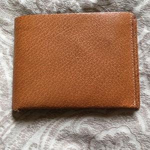 Vintage English Pigskin Billfold Wallet